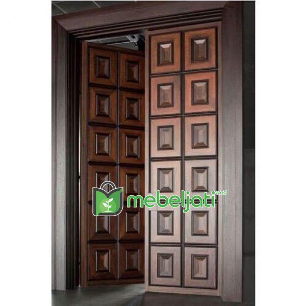 Pintu Depan Rumah Minimalis Modern Kayu Jati