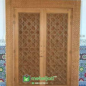 Pintu Masjid Ukir Model Terbaru Dan Modern