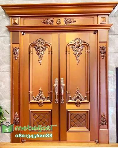 Pintu Ukir Jepara Kayu Jati Model Terbaru gambar Asli