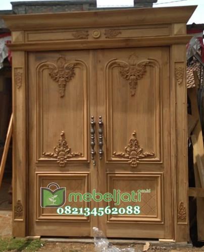 Pintu Ukir Jepara Kayu Jati Model Terbaru gambar tampak depan