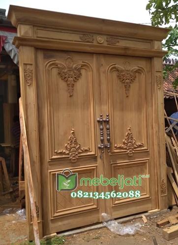 Pintu Ukir Jepara Kayu Jati Model Terbaru gambar tampak samping