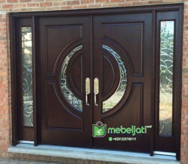 Pintu utama jati minimalis terbaru