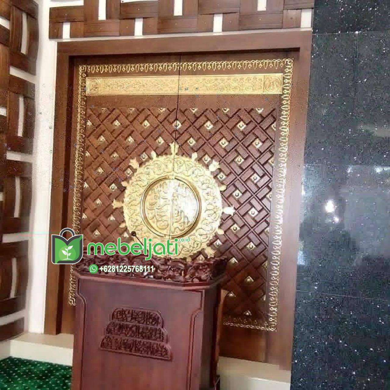 Mihrab Imam Model Pintu Masjid Nabawi Ukir Satu Muka